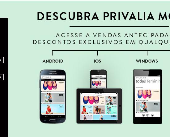 privalia mobile, privalia, mobile, iOS, android, app grátis, windows phone, ofertas, outlet, promoção, moda