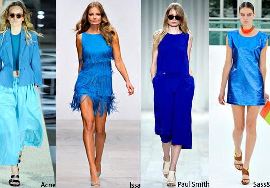 Azul é a cor da vez na Semana de Moda em Londres