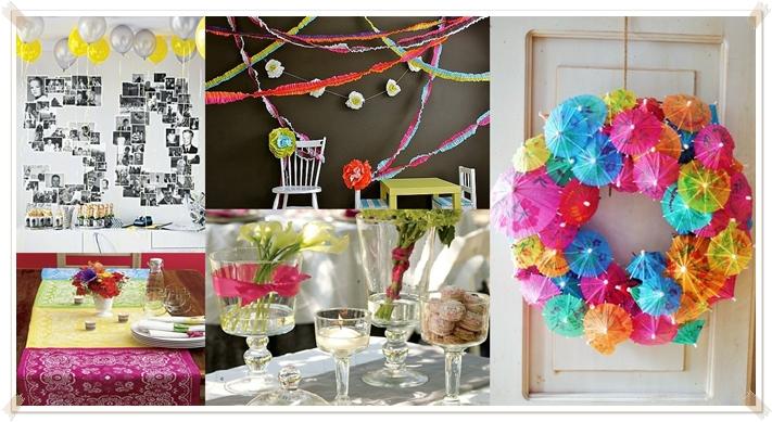 Dicas de decoração para uma festa de última hora na sua casa